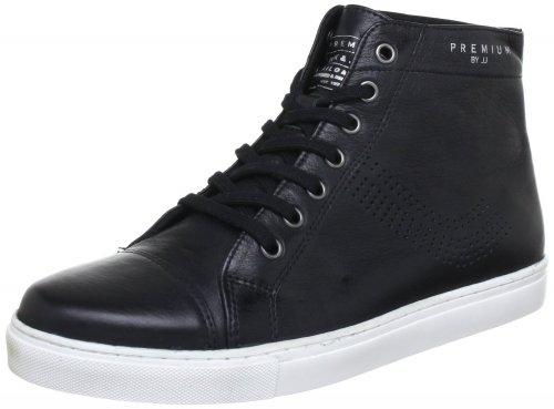 Jack & Jones Shoe Jj Union Mid Leather Premium High-sneaker Schwarz für 20€ zzgl. 4,90€ Versand bei Hoodboyz