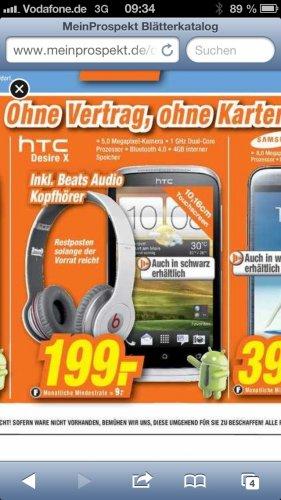 HTC Desire X + Beats Kopfhörer @ expert Langenhagen