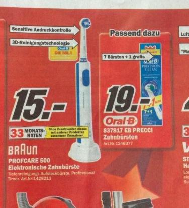 (Lokal MM Ravensburg) Oral B Professional Care 500 für effektiv 5€- Ps3 Spiele (Bioshock Infinite) fur 15 Euro