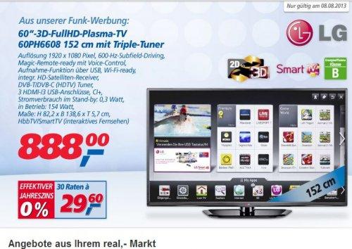 """[Real Bundesweit Offline] LG 60"""" 3D Plasma 60PH6608 / 111€ gespart!"""