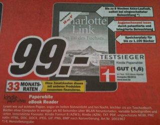 [Lokal MM Fellbach Backnang Schorndorf Waiblingen] kindle paperwhite eBook Reader für 99,- €