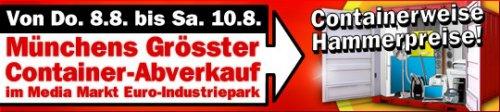 "[Lokal Mediamarkt München Euro-Industriepark] Größter Container Verkauf : Toshiba 46 UL 985 TV  46 "" 499 EURHaier 32"" DVB-C / TV 179 EUR"