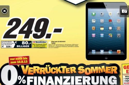 [MediaMarkt Porta Westfalica] iPad Mini 16GB Wifi und weitere Angebote