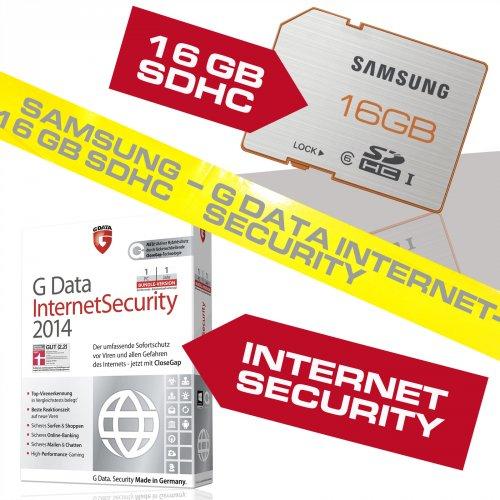 Spannung, Spiel und Schokolade |  16 GB SDHC Samsung Class 6 plus Serie UHS-I + G DATA Internet Security 2014 OEM zu bretto 19,99€ @ebay @poppstar