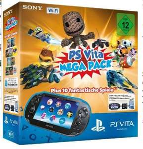 (Amazon Warehouse )PlayStation Vita Wi-Fi inkl. PS Vita Mega Pack 1 - 10 Spiele für 168,35