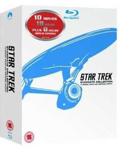 BluRay Star Trek 1-10 Movie-Box aus UK inkl. dt. Tonspur [Amazon.co.uk]