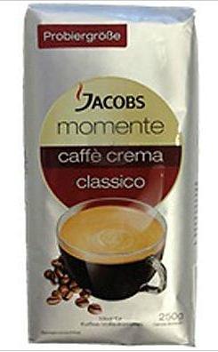 Kaffeebohnen JACOBS Momente Caffè Crema classico 250 g @ Saturn.de für 1,99 EUR (versandkostenfrei bei Abholung) 7,96EUR/kg - auch Großmengen bestellbar