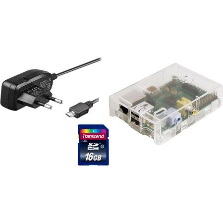 Raspberry Pi Model B (512MB) inkl. Gehäuse, Netzteil, 16 GB SDHC