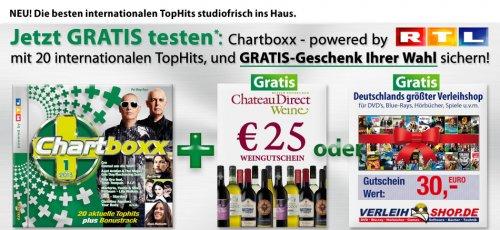 30€ Guthaben bei Verleihshop für Neukunden + RTL Chartbox
