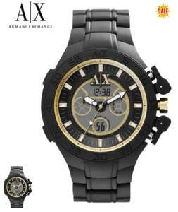 Armani Exchange Gents Active Black Bracelet Chronograph