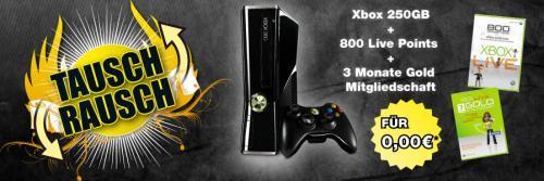 alte PS3 gegen neue Xbox 360 250GB bei Gamestop
