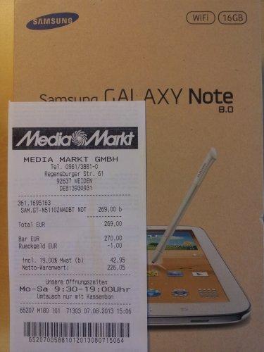 Samsung Galaxy Note 8.0 16GB Wifi 269€ MediaMarkt Weiden/Opf.