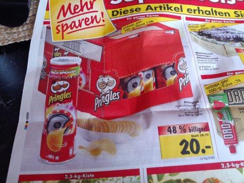 [Kaufland Eiche/Biesdorf] Karton Pringles (18 Dosen) verschiedene Sorten
