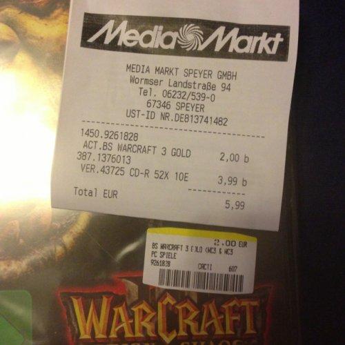 [lokal?] - MediaMarkt Speyer - warcraft 3 Gold für 2€