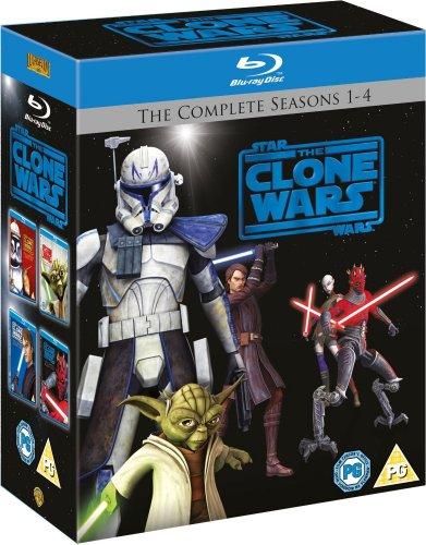 Star Wars: The Clone Wars - Staffel 1-4 [Blu-ray] ( 12 Discs )mit O-Ton inkl. Vsk für 58,30 €