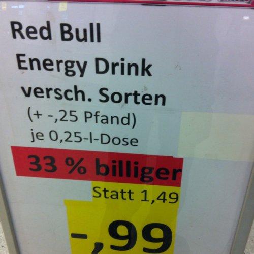 Red Bull für 0,99€ im Kaufland NT