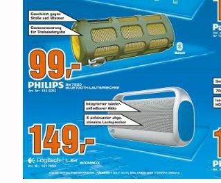 (Saturn) Zwei klasse Angebote Logitech UE Boombox 149€ - Philips SB7220 Shoqbox 99€
