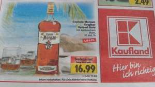 Captain Morgan 1,5 Liter offline Kaufland Fulda lokal?