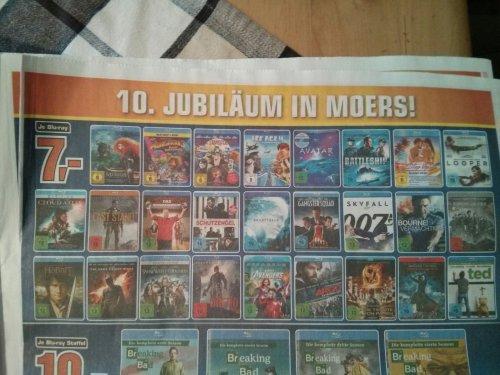 [Saturn Moers] Blu-rays z.B. Der Hobbit, Cloud Atlas, Looper, Skyfall