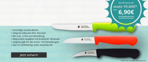 Aktion: 3 hochwertige Küchenmesser im Set für 6,95 inkl. DHL Versand.