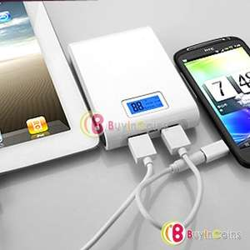 günstige Powerbank 12000mAh LCD - DUAL USB
