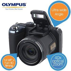 "Olympus SP-820UZ  ""Bridge""-Kamera mit extra Weitwinkel-Objektiv für 175,90€  @ IBood"