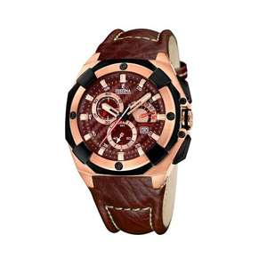 FESTINA Sport-Tourchrono in braun (Leder) @amazon