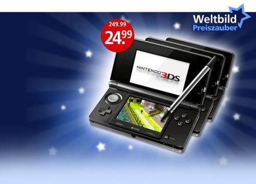 3 Nintendo 3DS für nur je 24.99 EUR bei Weltbild.de (Bestellungslotterie)
