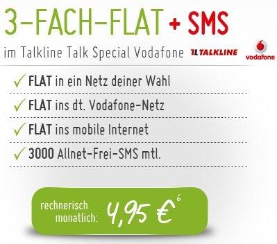 4-fach-Flat im Vodafone-Netz für mtl. 5,15€ @Groupon + handytick