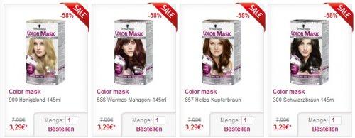 Schwarzkopf Color Mask Haarfärbungen für je nur 3,29 Euro bei DrogerieDepot.de
