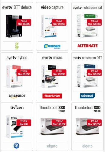 elgato Sommer - Spezial viele Produkte günstiger EyeTV & Co.