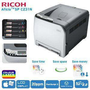 Ricoh Aficio SP C231N Farblaserdrucker nur heute bei ibood.de