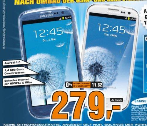 """[Köln] Saturn Hohe Straße Galaxy S3 279€ 15. August, MacBook Pro 13"""" 899€ + weitere gute Angebote"""