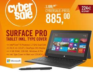 Microsoft Surface Pro 128GB + Type Cover im cyberSale