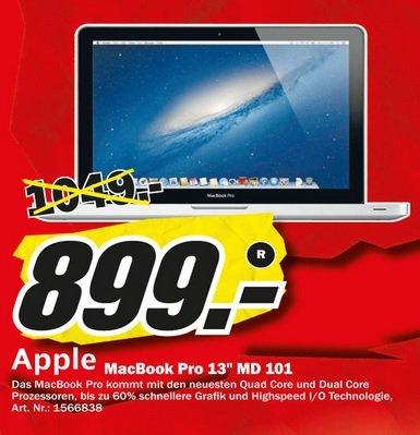 """[LOKAL] MM Essen, MacBook Pro 13"""" MD 101 für 899 Euro"""