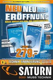 Saturn Köln Hohe Strasse Neueröffnung - Samsung S3 für 279€, Ipad 4 für 399€ und MacBook Pro für 899€