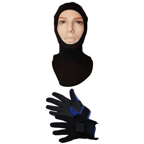 Neopren Handschuhe + Haube für 4,95 @sports-box
