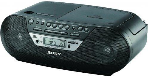 Sony MP3 Radio  ZSRS09CPB mit CD-Player und USB-MP3 inkl. Fernbedienung bei Ebay, neu