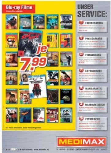 Medimax (z.B. Kiel/Schwentinental) Blu-Ray Filme für EUR 7,99