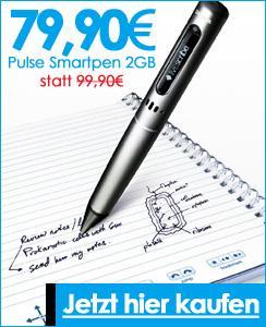 Pulse Smartpen 2GB von Livescribe 79,90€ und Echo Smartpen + 4er-Pack DIN A4 Blöcke 139€