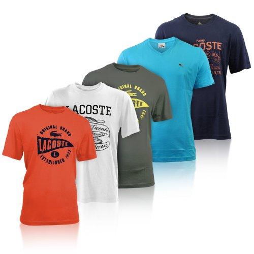 Lacoste Kurzarm T-Shirt Damen & Herren Shirt Größe M L XL XXL viele Motive Neu