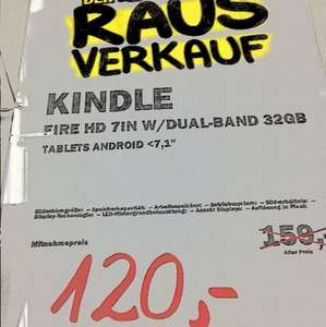 "[lokal Mediamarkt Berlin Wedding] Kindle Fire HD 32GB oder 16GB 7"" Tablet"