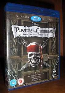 (UK) Fluch der Karibik - Pirates of the Caribbean 1-4 [5 x Blu-ray] für umgerechnet ca. 17.59 € @ zavvi