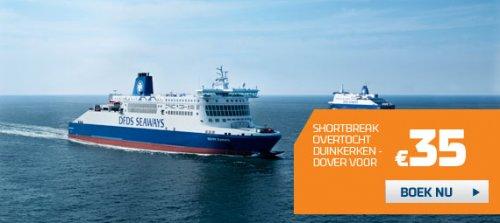 Fähre: Hin- und Rückfahrt nach England (Duinkerke - Dover) 34,50 Euro für Auto mit bis zu 9 Personen (September - Dezember)