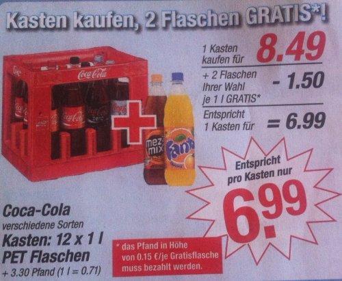 [V-Markt] 1l Flasche Coca-Cola (versch. Sorten) für 0,60€