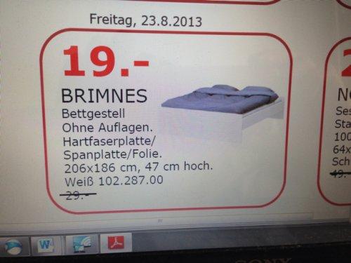 Ikea güntersdorf Halle/Leipzig Brimnes Bettgestell
