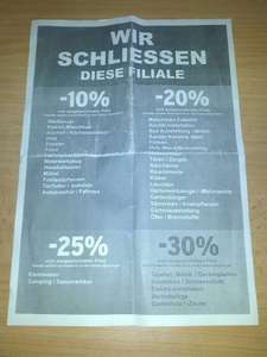 [Lokal München] Ausverkauf bei Praktiker beginnt (bis 30%)