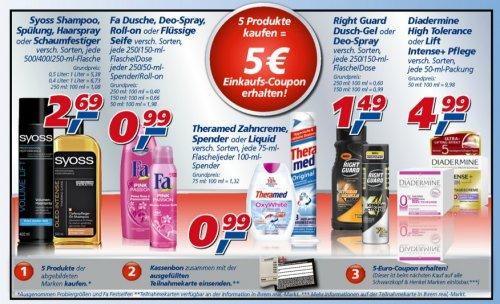 real - 5 Schwarzkopf & Henkel Produkte kaufen - 5 EUR Gutschein erhalten - bundesweit