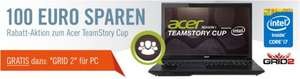 Acer Aspire V3-772G Gaming Notebook mit 100€ Preisvorteil + Vollversion GRID 2
