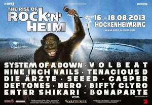 The Rise of Rock'n'Heim live vom Festival mit System of a Down,Tenacious D,Franz Ferdinand auf Arte Live Web